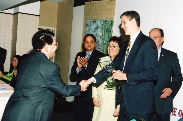 CEO Arne Duncan, Dr. Hieu, Dr. Butt of Chicago Board of Education
